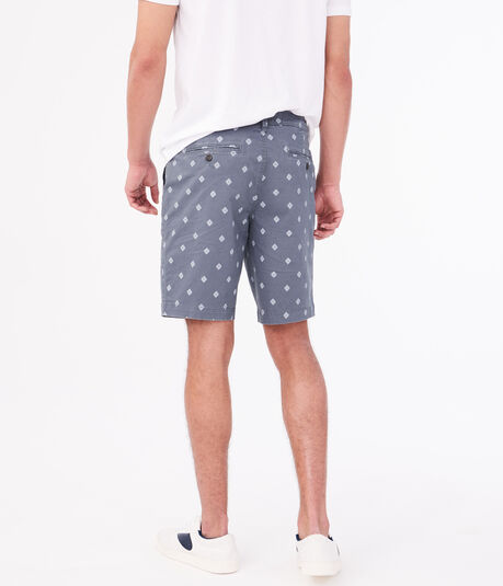 "Geometric 9.5"" Stretch Twill Shorts"