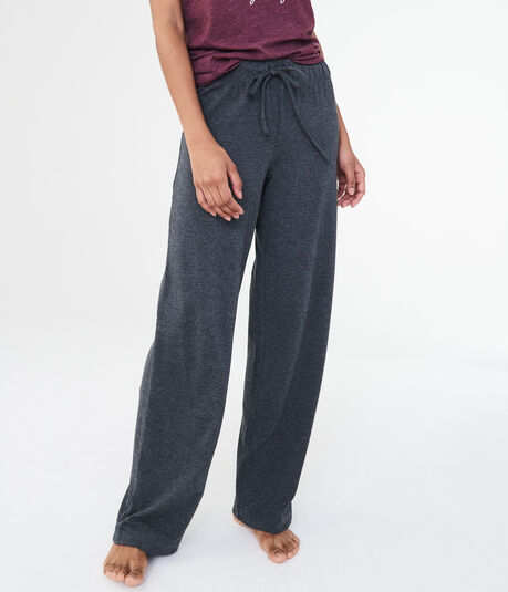 LLD Heathered Flare-Leg Sleep Pants