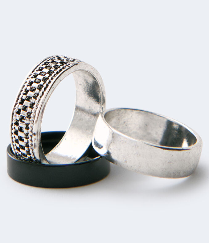 Textured & Smooth Ring 3-Pack