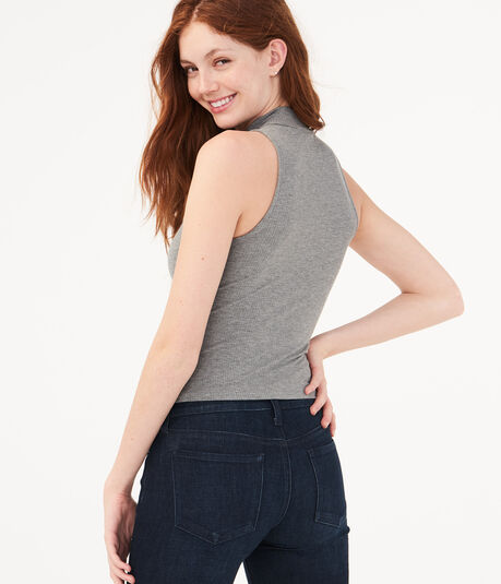 Seriously Soft Mock-Neck Tank***