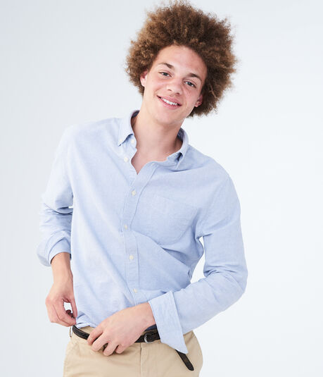 Long Sleeve Oxford Button-Down Shirt