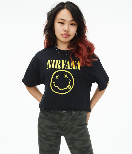 Nirvana Cropped Graphic Tee