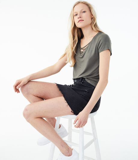 Seriously Soft Strappy V-Neck Girl Tee