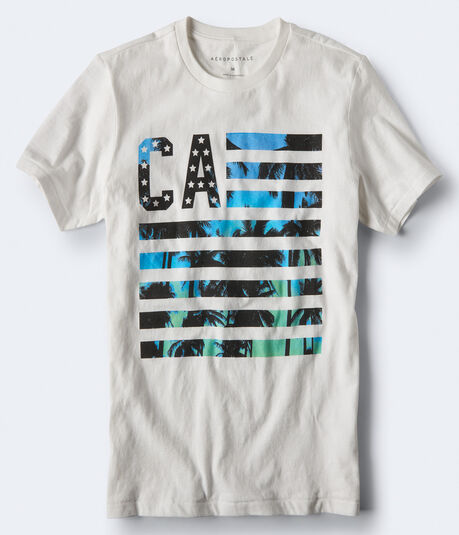 CA Palm Flag Graphic Tee***