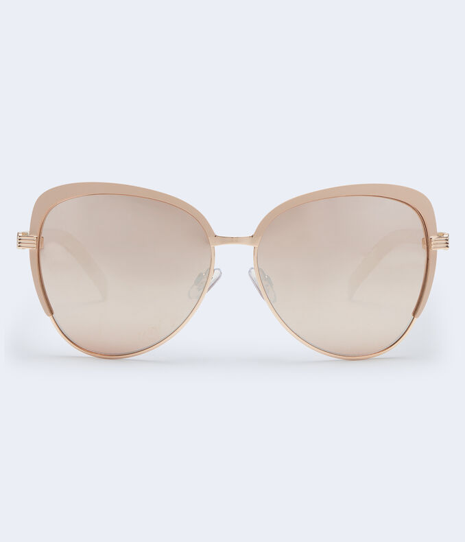 Butterfly Color-Tip Sunglasses