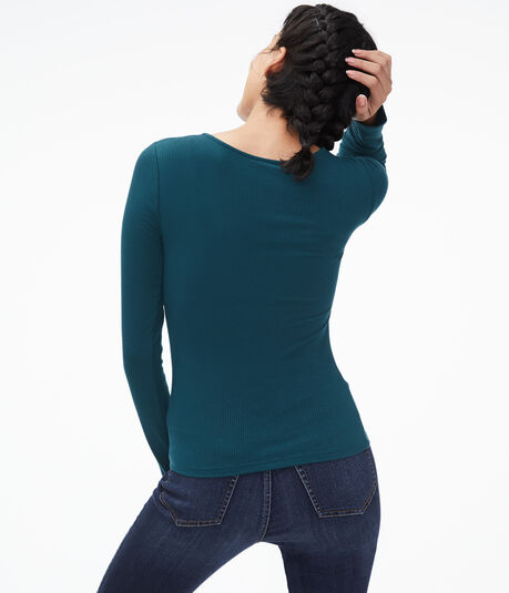 Long Sleeve Seriously Soft Strappy Bodycon Top