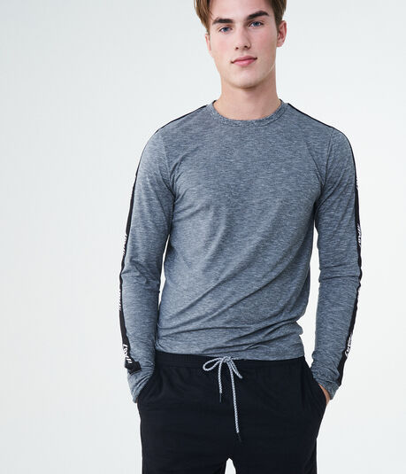 Long Sleeve A87 Stripe Stretch Tee
