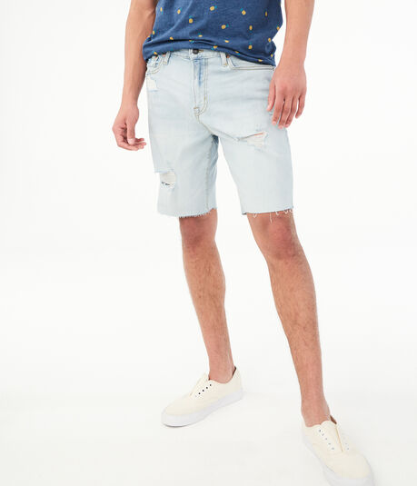 Slim Denim Cutoff Shorts