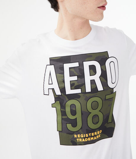 Long Sleeve Aero Camo Trademark Graphic Tee