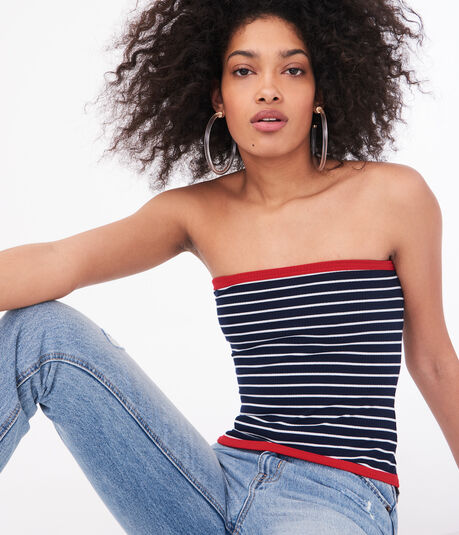 Seriously Soft Striped Tube Top