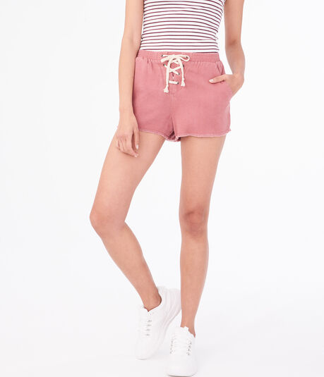 Lace-Up Utility Shorts