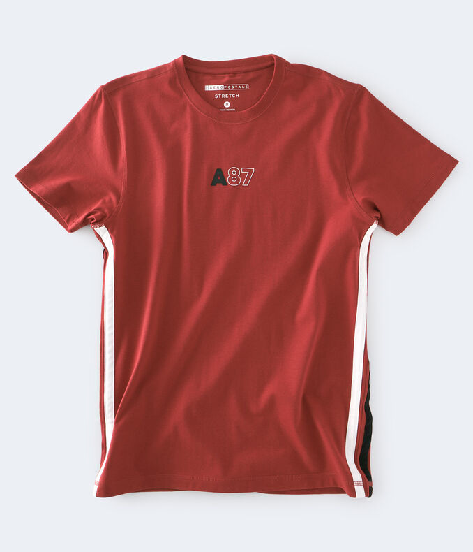 A87 Side Stripe Stretch Graphic Tee