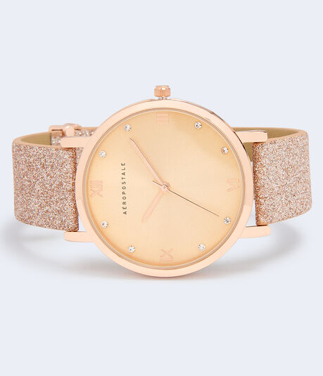 Glitter Bling Analog Watch***