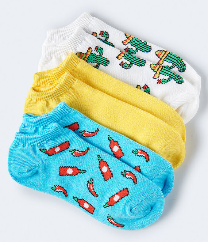 3-Pack Hot Sauce, Cactus Hat & Solid Socks