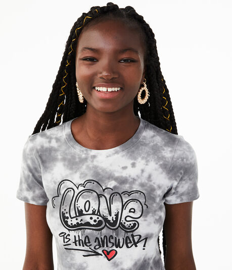 Love Is The Answer Tie-Dye Graphic Tee
