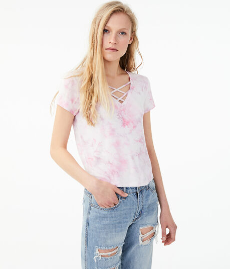 Seriously Soft Strappy Tie-Dye Girl Tee