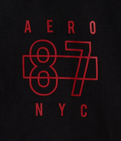 Aero 87 NYC Logo Solid Stretch Graphic Tee