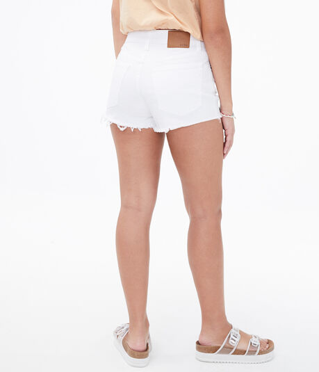 Real Denim High-Rise Shorty Shorts