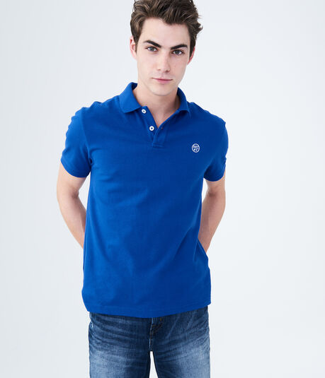 A87 NY Solid Stretch Piqué Polo