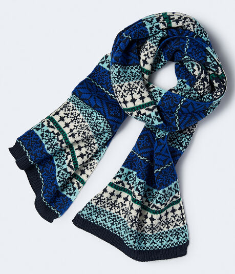 Fairisle Knit Scarf***