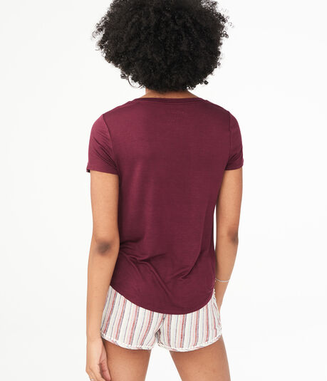Seriously Soft Solid Pocket Crew Tee