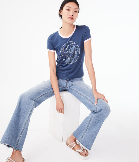 Seriously Soft Wave Graphic Girl Tee