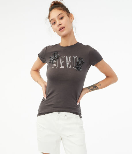 Aero Flowers Graphic Tee