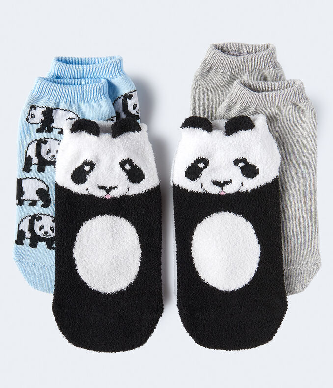 Fuzzy Panda Ankle Sock 3-Pack
