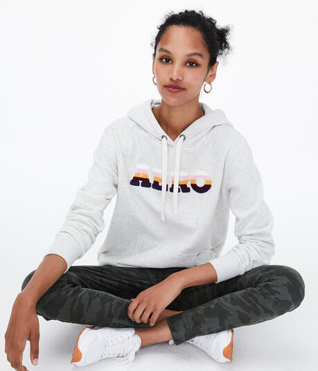 Chenille Logo Pullover Hoodie