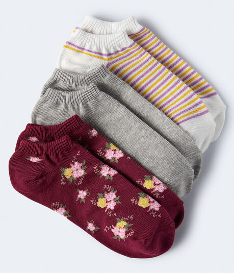 Spring Floral Ankle Sock 3-Pack