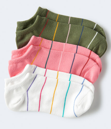 Thin Stripe Ankle Sock 3-Pack***