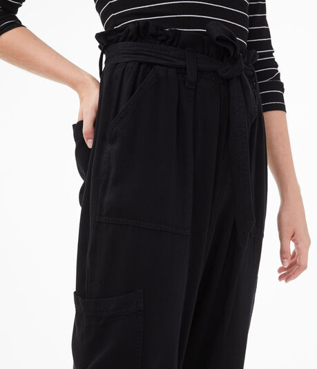 High-Rise Tie-Front Tapered Pant