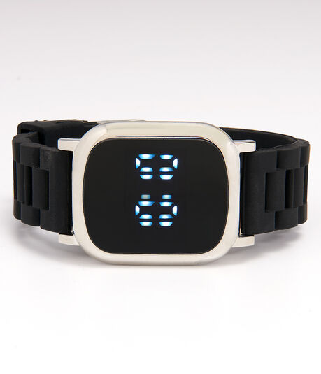 Rubber Rectangular LED Digital Watch
