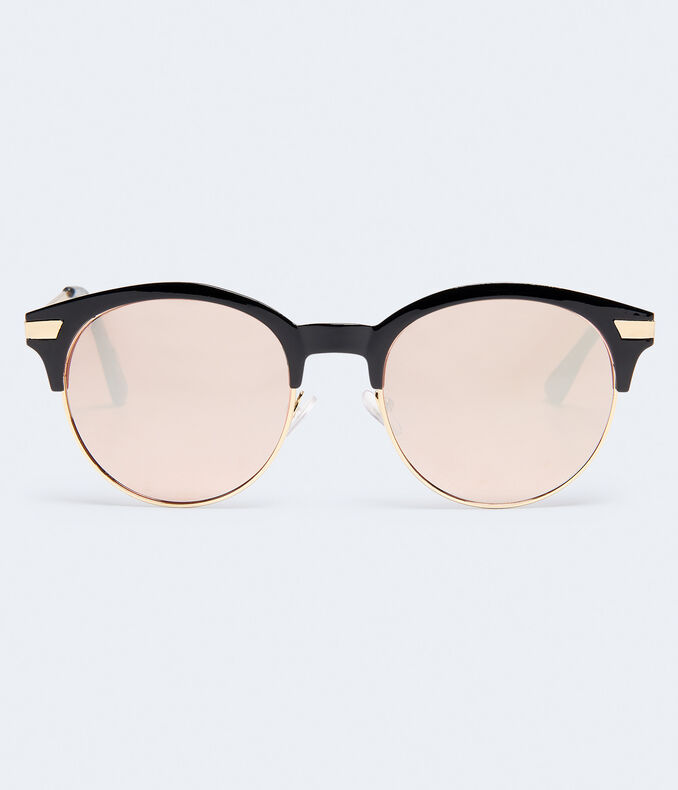 Round Mirrored Sunglasses***
