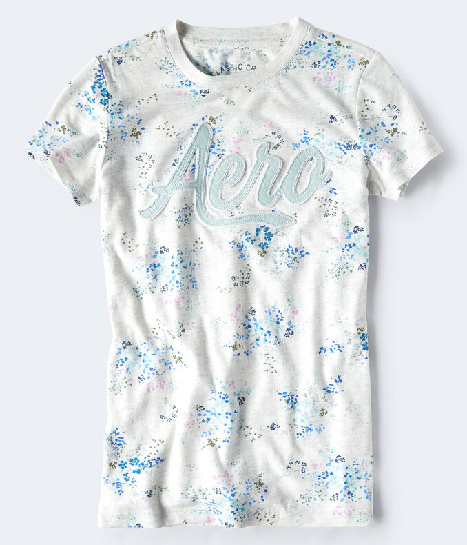 Aero Watercolor Flower Graphic Tee