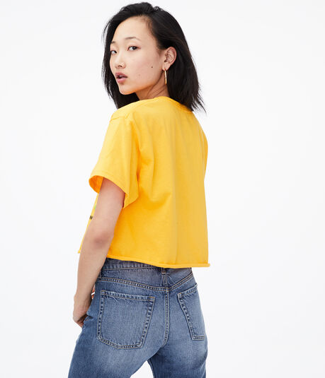 Polaroid Take A Picture Cropped Graphic Tee