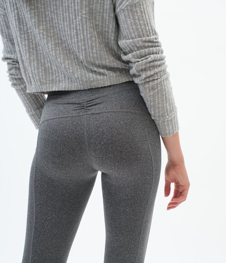 Best Booty Ever Heathered Cropped Leggings