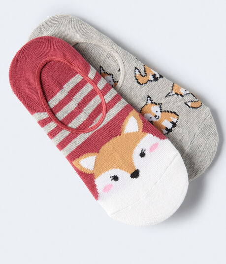 Fox No-Show Sock 2-Pack