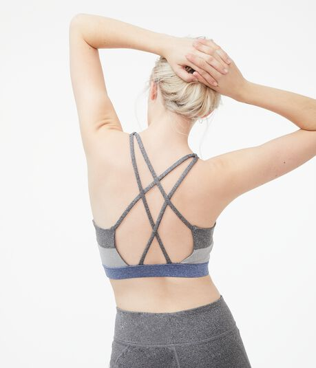 Colorblocked Strappy Sports Bra