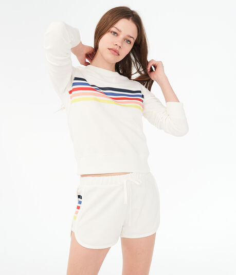 Striped Panel Shorts