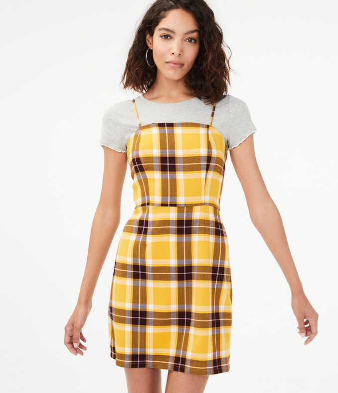 Plaid Skater Dress by Aeropostale