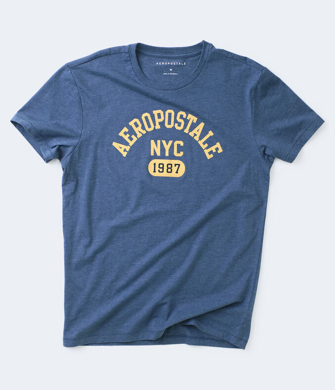 Crackled Aeropostale NYC 1987 Graphic Tee