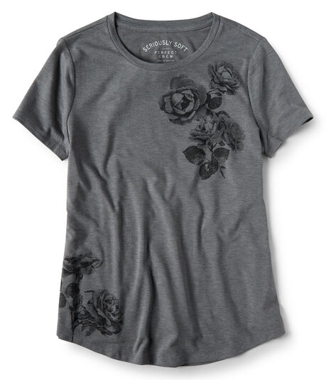 Seriously Soft Tonal Roses Relaxed Graphic Tee