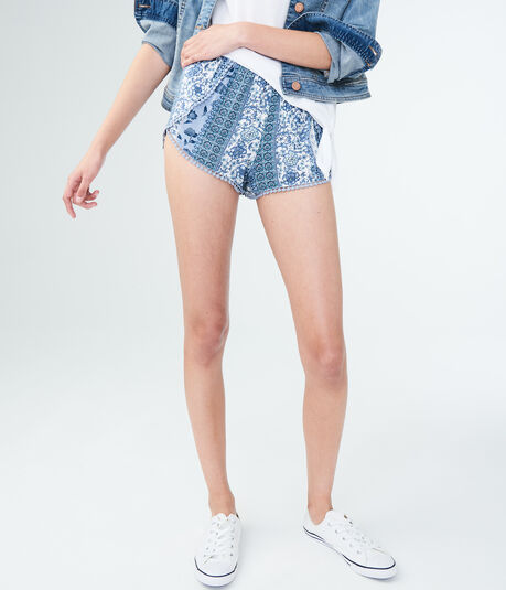 LLD Mixed Print Crocheted Sleep Shorts