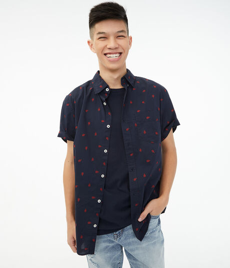 Lobsters Button-Down Shirt***
