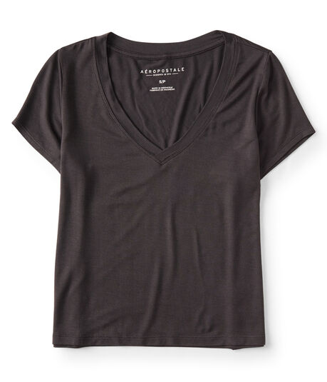 Solid V-Neck Baby Tee