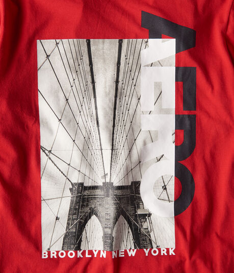 Long Sleeve Aero Brooklyn Bridge Graphic Tee***
