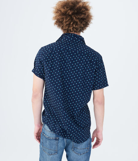 Abstract Triangles Woven Shirt