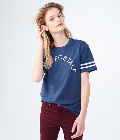 Aeropostale Stripes Graphic Boy Tee