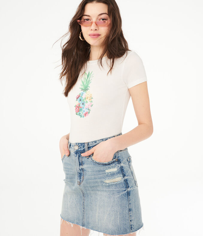 Floral Pineapple Graphic Tee